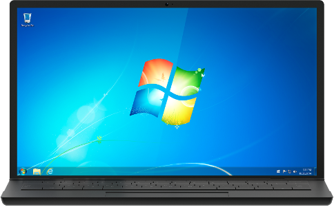 Windows 7 on a laptop