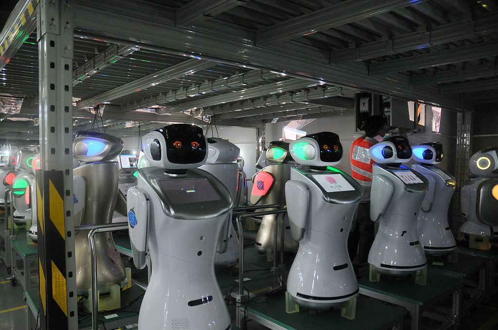 robot production line
