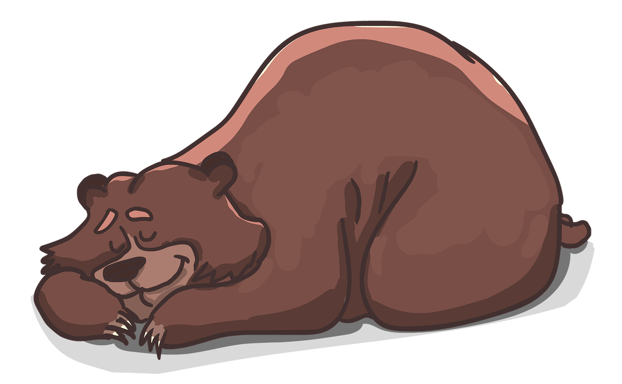 drawing of a brown bear sleeping