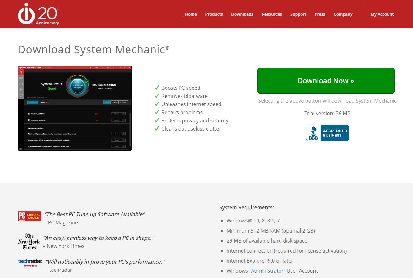 Iolo System Mechanic 1 best free pc optimizer
