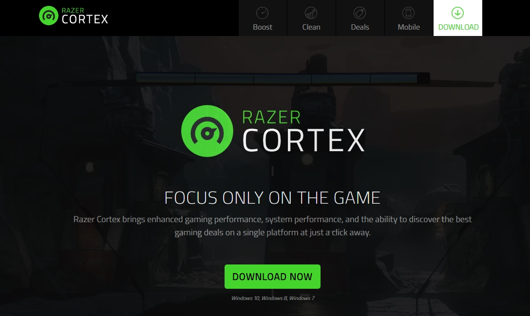 Razer Cortex Boost best free pc optimizer